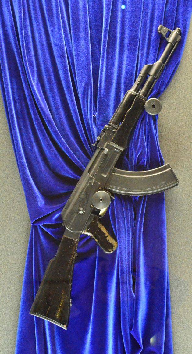 博物館に展示されたAK-47=ロシア・イジェフスク