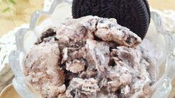 フリーザーバッグでもむだけ!ミロとオレオで「クッキークリーム味」のアイスが完成