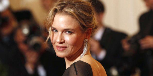 Actress Renee Zellweger arrives at the Metropolitan Museum of Art Costume Institute Benefit celebrating...