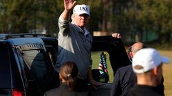 トランプ大統領、ゴルフ動画を公開