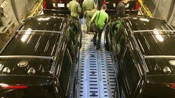 大統領専用車両「ビースト」は、こんな風に飛行機で運ばれてきた。
