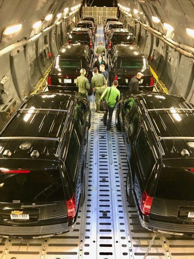大統領専用車「ビースト」はこうやって運ばれてきた。