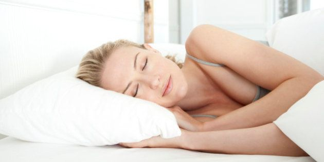 Woman sleeping on