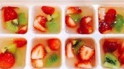 【夏のおやつに◎】製氷皿で「ひとくちゼリー」が簡単に作れた