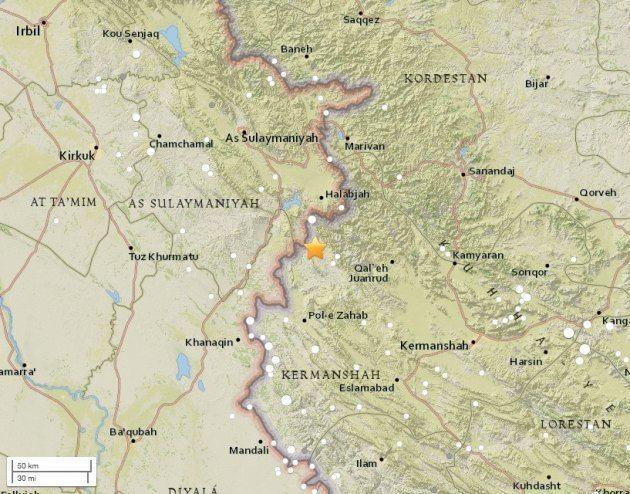 地震の震源地