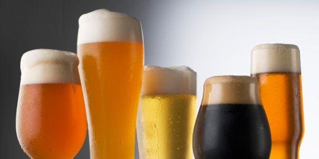 Variety of Beer glasses