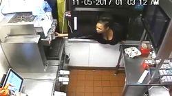 深夜のマクドナルドで大胆不敵な犯行 窓から侵入した女がやりたい放題