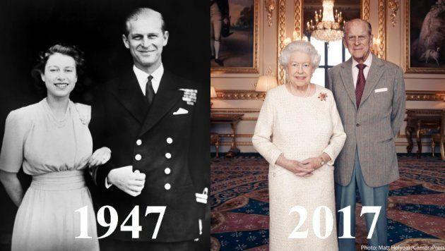 1947年に結婚したエリザベス女王とフィリップ殿下は、2017年に結婚70周年を迎えた。