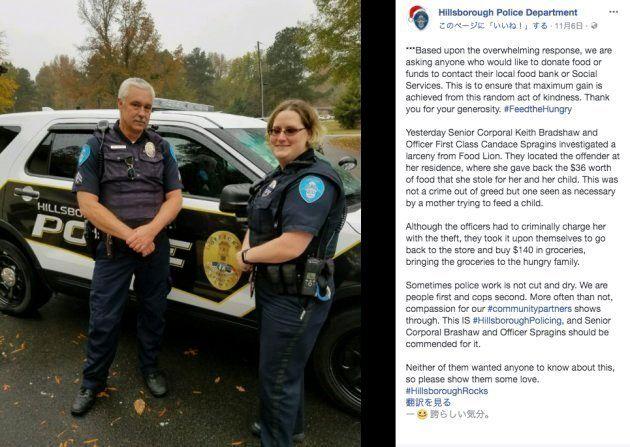 警察は万引きした母親を見捨てず、裁判所で事情を説明した。