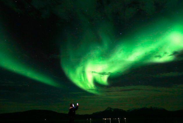 オーロラ=2014年9月、カナダの北極圏