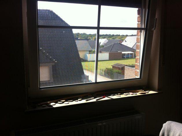 ラマットの部屋から見える風景。静かな田舎の住宅地だ。