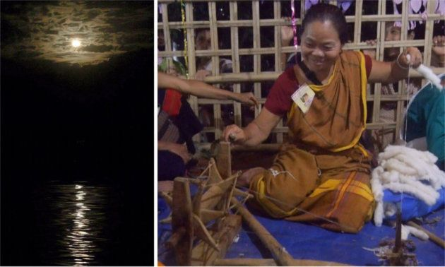 満月の夜、一晩かけて編む聖なる布と、命の誕生