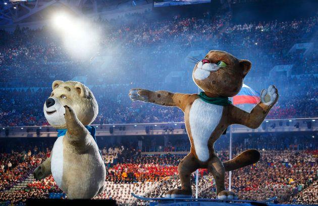ソチ五輪の開会式=2014年2月7日、ロシア南部ソチ