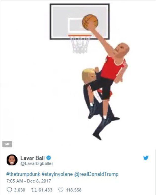 バスケ界の名物オヤジ、トランプ氏をコテンパンにするアニメを公開
