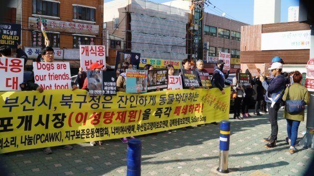 韓国・釜山の食用犬市場が閉鎖へ 全国屈指の規模だった