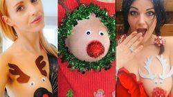 謎のクリスマスファッション「半乳トナカイ」がインスタで流行中
