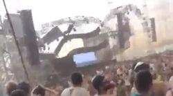 野外フェスのステージが強風で崩れ、DJ死亡 警報の中強行か?(動画)