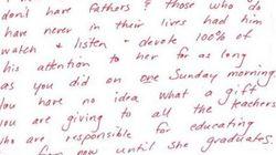 娘と喫茶店で過ごした父親に教師から置き手紙→感動的だと話題に