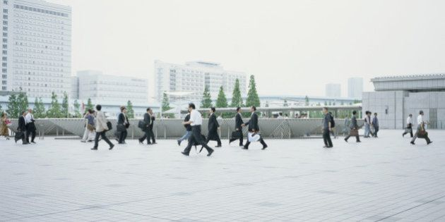 Japan, Tokyo, business people walking
