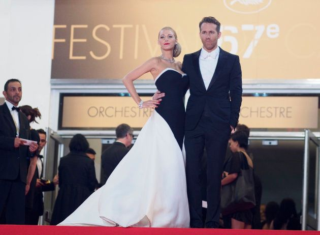 Blake Lively and Ryan Reynolds attend the premiere for the film, Captives, at the Cannes Film Festival...