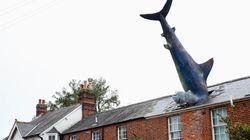 """イギリスの住宅に突き刺さった""""サメ"""" 「原爆投下の批判」という深い意味があった"""