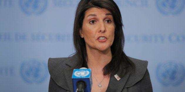 アメリカのニッキー・ヘイリー国連大使