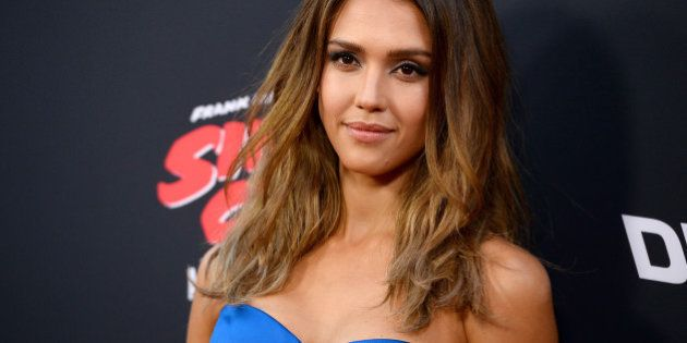 Jessica Alba arrives at the Los Angeles premiere of
