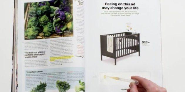 IKEAが「妊娠検査薬」付きの広告を発表、陽性反応でたらベビーベッドを割引き