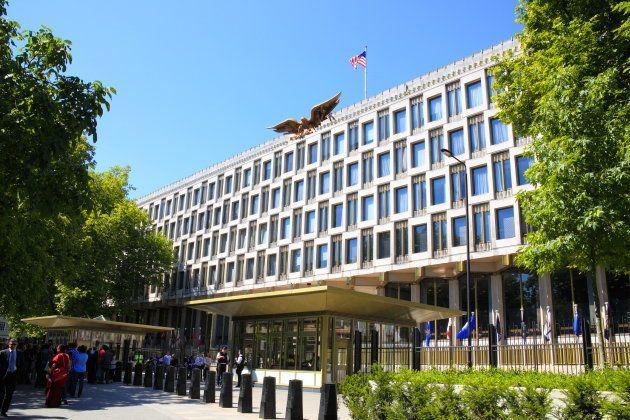 ロンドンの旧アメリカ大使館。