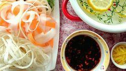 野菜たっぷり「リボンしゃぶ鍋」のススメ ピーラーでラクラク、すぐできる