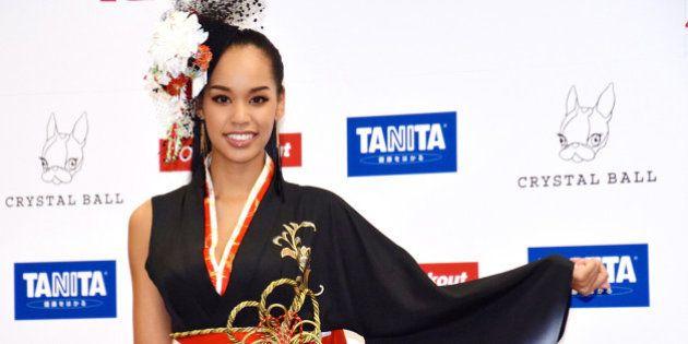 宮本エリアナさん、ミス・ユニバース世界大会に「着物ドレス」で挑む(画像集)