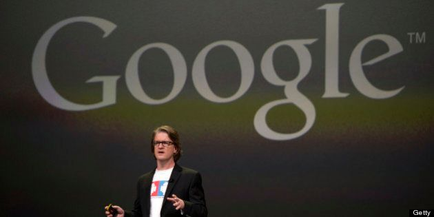 Chris Yerga, engineering director for Android at Google Inc., speaks during the Google I/O Annual Developers...