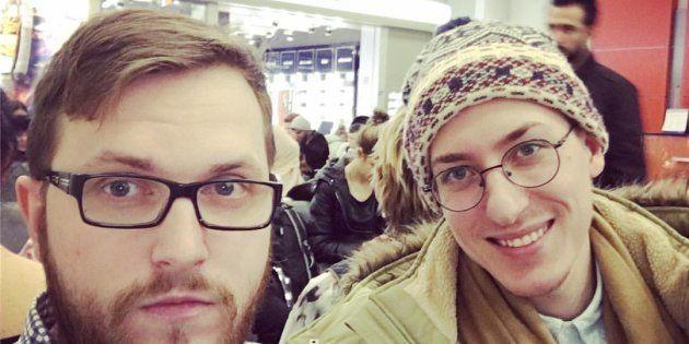 ストツコさん(左)とボイツェホフスキーさん=ロシアのソーシャルメディア「フ・コンタクチェ」より