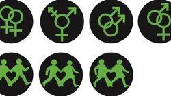 LGBTの信号、ロンドン中心街に登場 カーン市長「多様性を受け入れる」