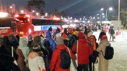 平昌オリンピックの開会式後、深夜におよぶ大混乱