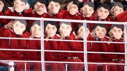 北朝鮮応援団の「金日成仮面?」に世界がビックリ 韓国は「違う」と火消し