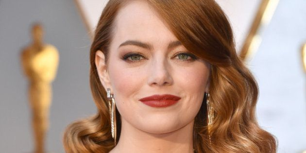 HOLLYWOOD, CA - FEBRUARY 26:  Actor Emma Stone attends the 89th Annual Academy Awards at Hollywood & Highland Center on February 26, 2017 in Hollywood, California.  (Photo by Jeff Kravitz/FilmMagic)