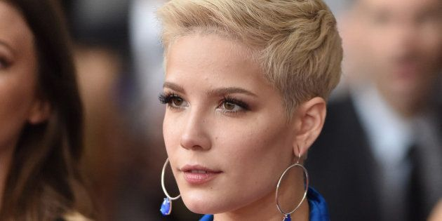 LOS ANGELES, CA - FEBRUARY 12: Recording artist Halsey attends the 59th GRAMMY Awards at STAPLES Center...