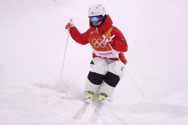PYEONGCHANG-GUN, SOUTH KOREA - FEBRUARY 12: Daichi Hara of Japan competes in the Freestyle Skiing Men's...