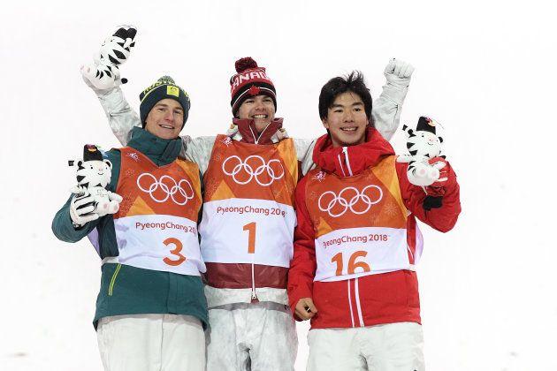 PYEONGCHANG-GUN, SOUTH KOREA - FEBRUARY 12: (L-R) Silver medalist Matt Graham of Australia, gold medalist...