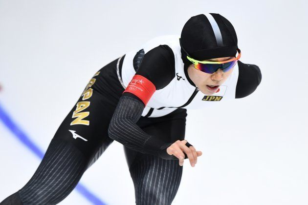 Japan's Miho Takagi competes in the women's 1,500m speed skating event during the Pyeongchang 2018 Winter...