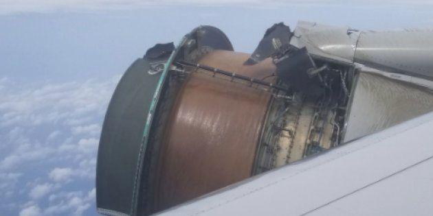 「人生で最も恐ろしいフライトだった」ユナイテッド航空機が飛行中、エンジンカバー外れる(動画)