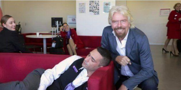 昼寝してる従業員を見つけたヴァージン航空の会長、対応がとっても素敵