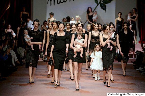「ママ万歳」ドルチェ&ガッバーナのファッションショーは母親への敬意であふれている(画像)