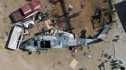メキシコ地震の被災地で、大臣を乗せたヘリ墜落。地上の13人が死亡(現場写真)