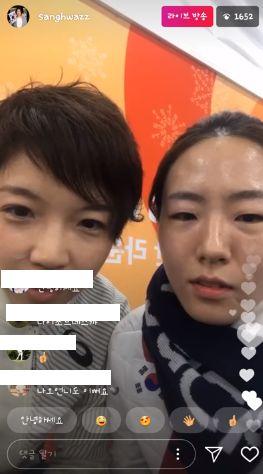 韓国語で「奈緒オンニ(*)もきれいです」などと書き込まれている。*親しい間柄の年上女性をこう呼ぶ。