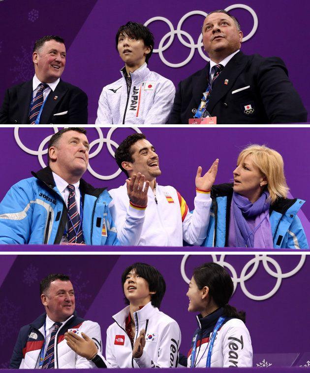 上から日本、スペイン、韓国。