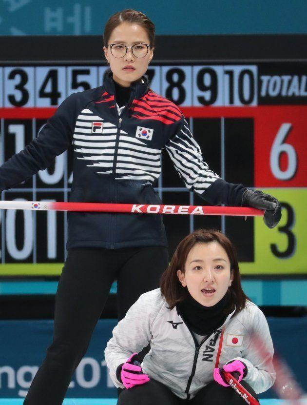 藤沢五月選手(右)、キム・ウンジョン選手(左)