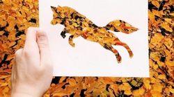 大自然と一体になった切り絵の動物たち、かわいいアートだね(画像集)
