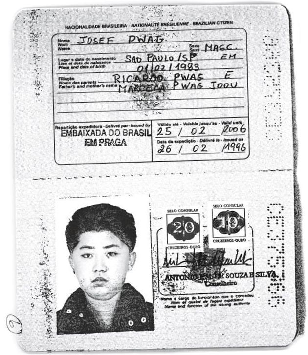 金正恩氏に発行されたブラジルのパスポート。ロイターがコピーを入手。Handout via